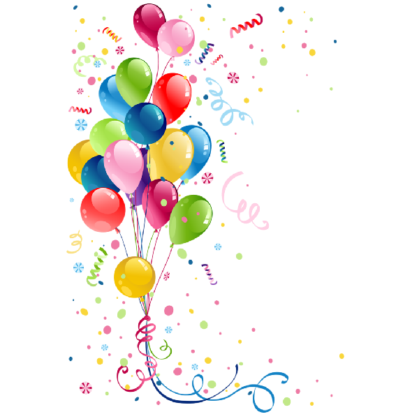 Streamers clipart party favor. Balloons png balon temal
