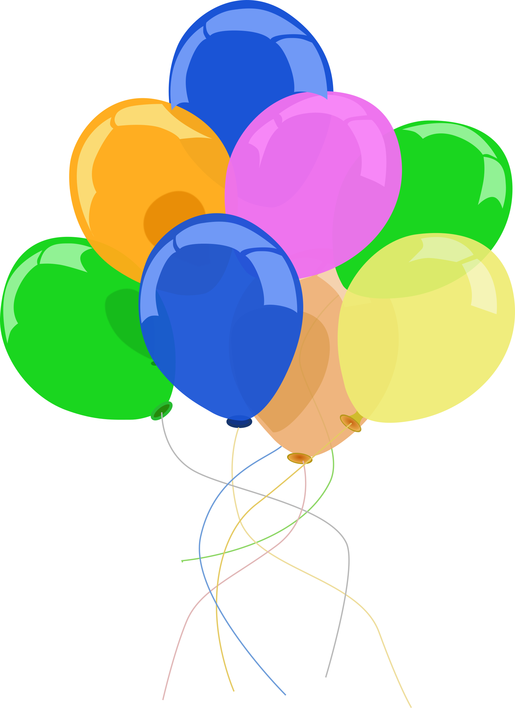 Luftballons big image png. Streamers clipart party favor