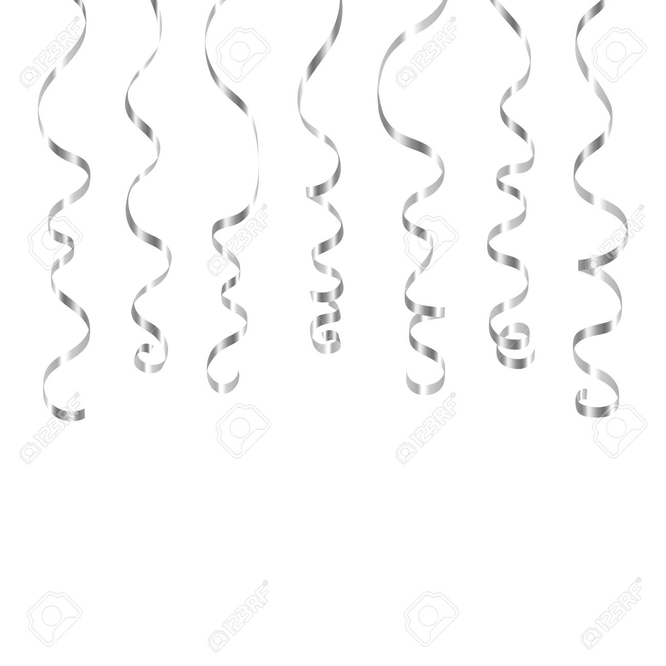 Cliparts x making the. Streamers clipart silver