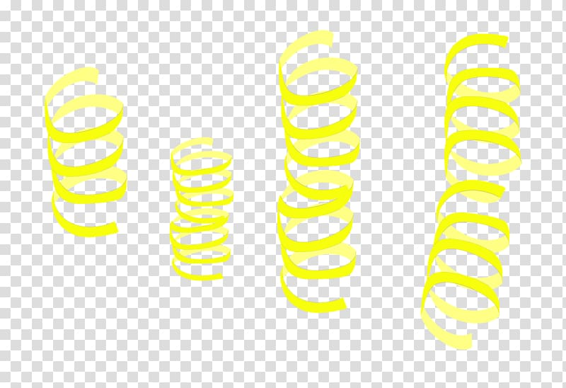 Yellow decor transparent . Streamers clipart spiral
