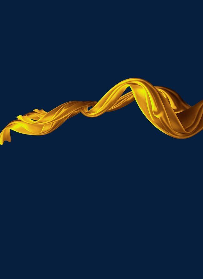 Gold streamer ribbon golden. Streamers clipart sprinkle