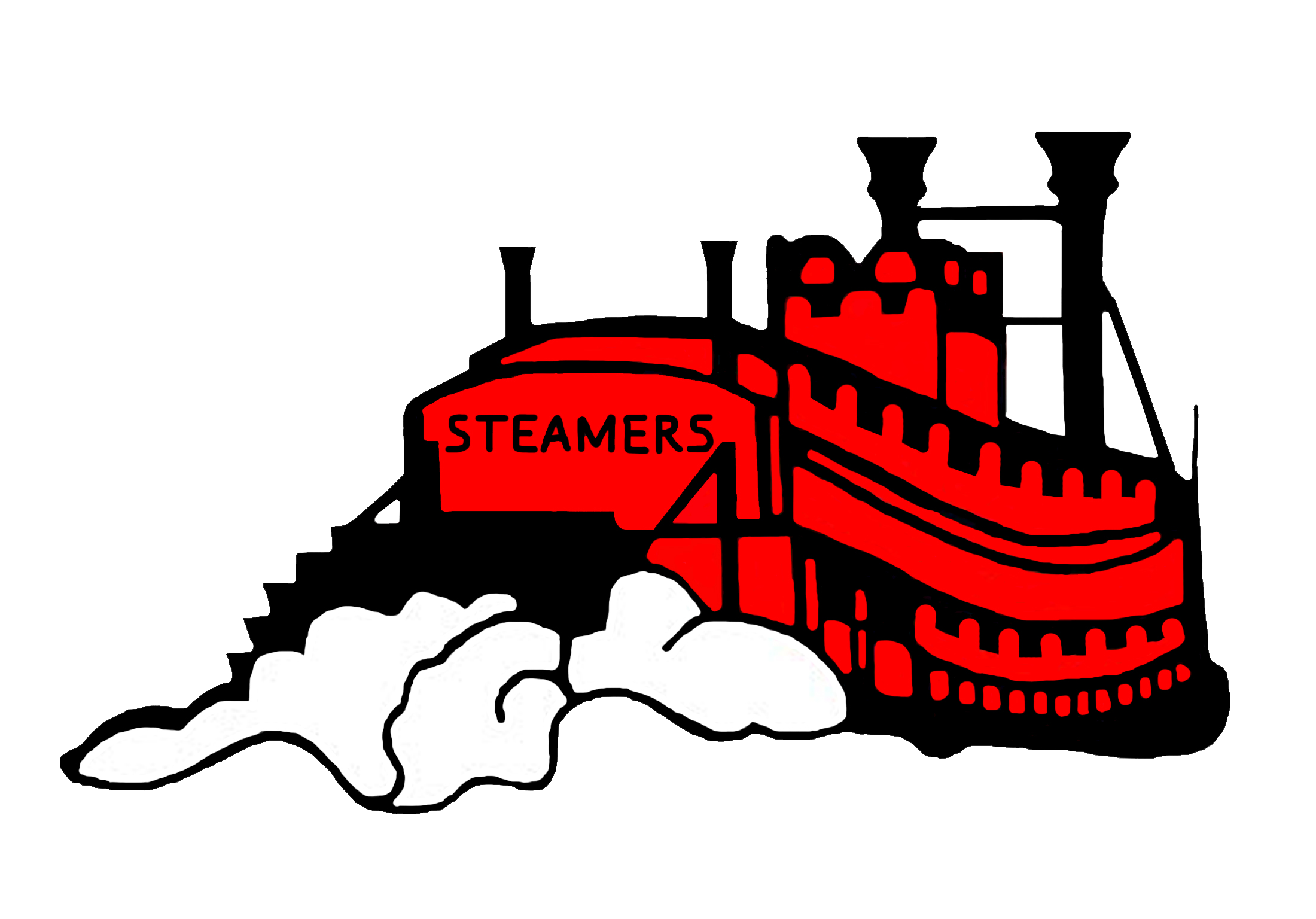 Athletics fulton high school. Streamers clipart steamer