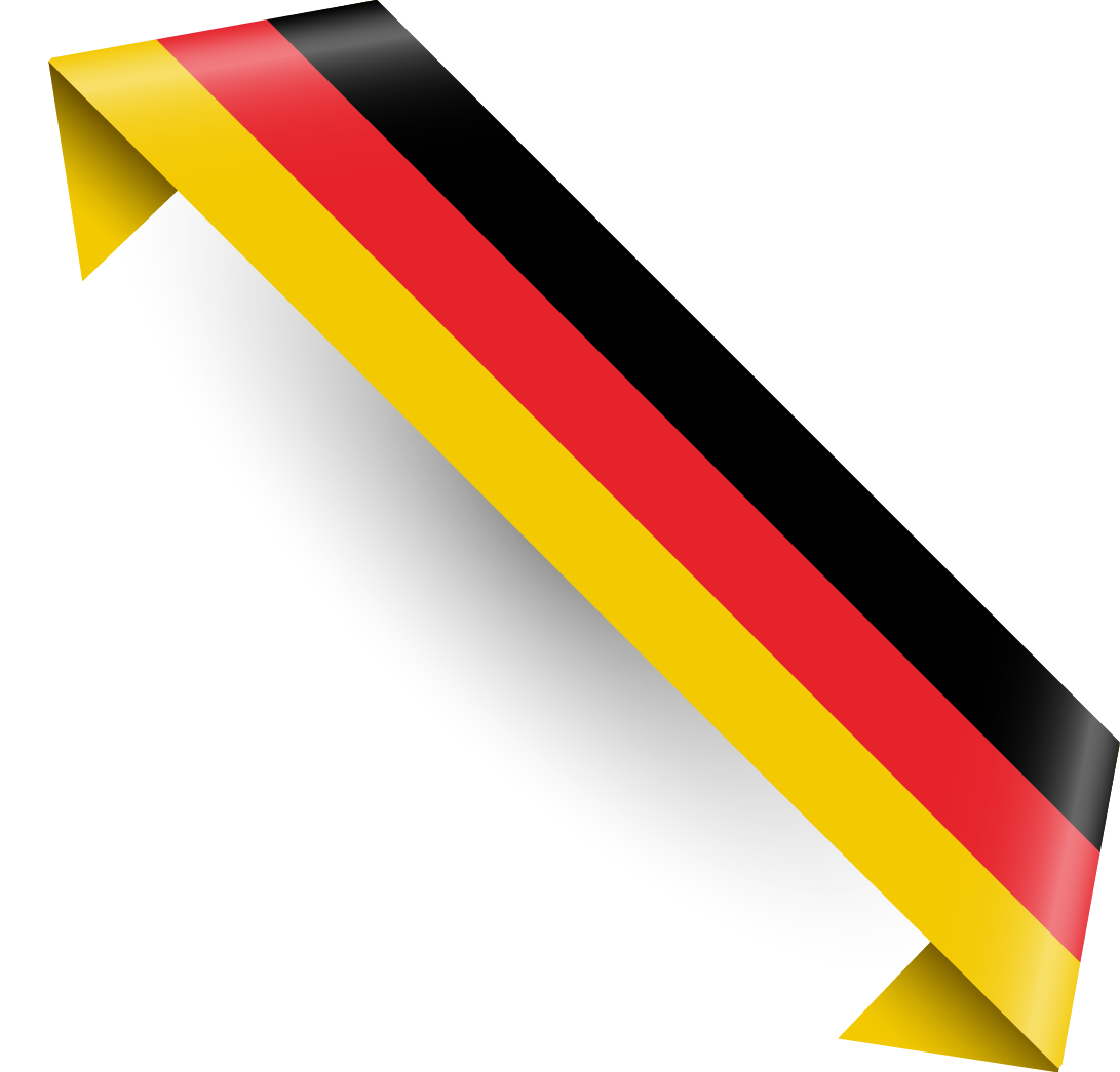Flag of germany national. Streamers clipart yellow