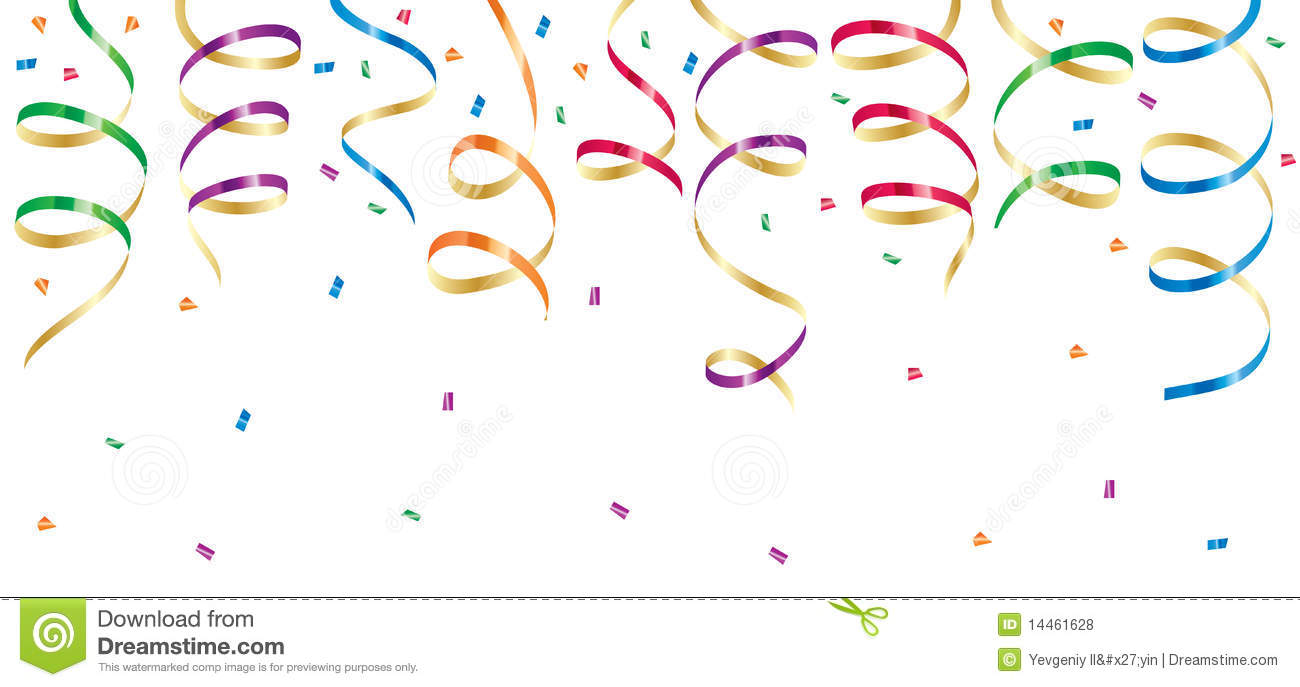 Streamers clipart. Party