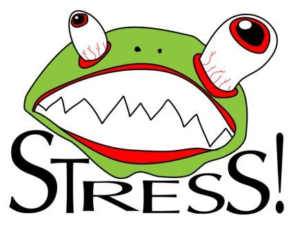 Funny stressful clip art. Stress clipart