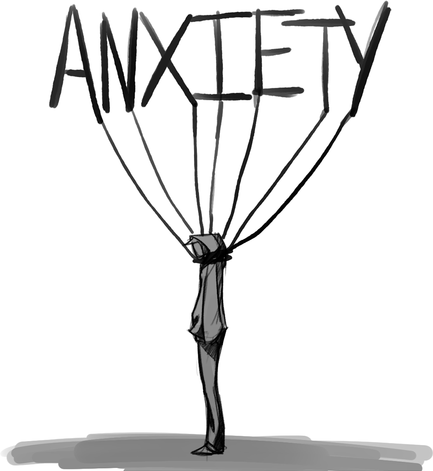 Stress clipart anxiety. Anxious anxietyattack sad depression