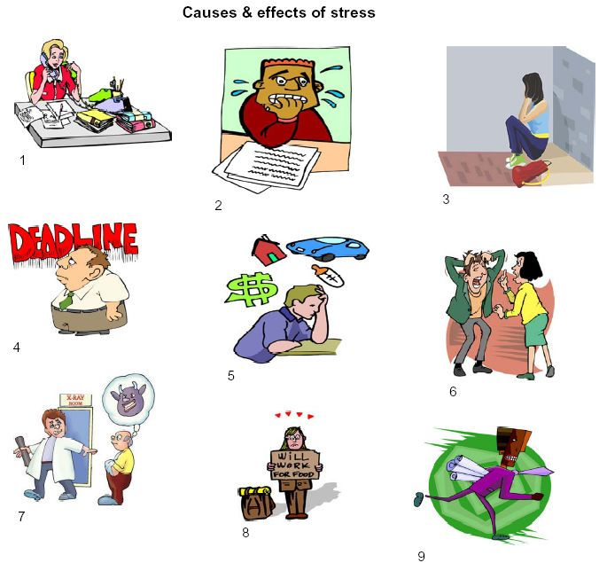 Explaining pictures cause and. Stress clipart causes stress