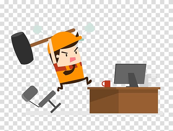 Labor well being environment. Stress clipart computer stress