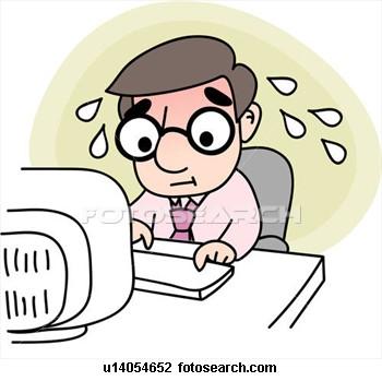 clipartlook. Stress clipart computer stress