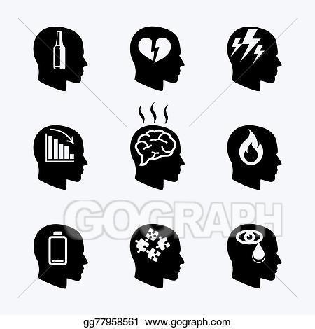Stress clipart emotional stress. Vector illustration depression concept