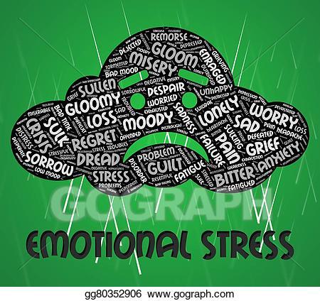 Stress clipart emotional stress. Stock illustration indicates soul