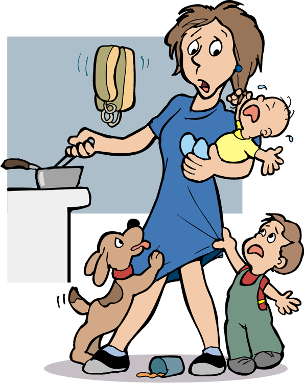 The overflow stressclipart. Stress clipart family stress