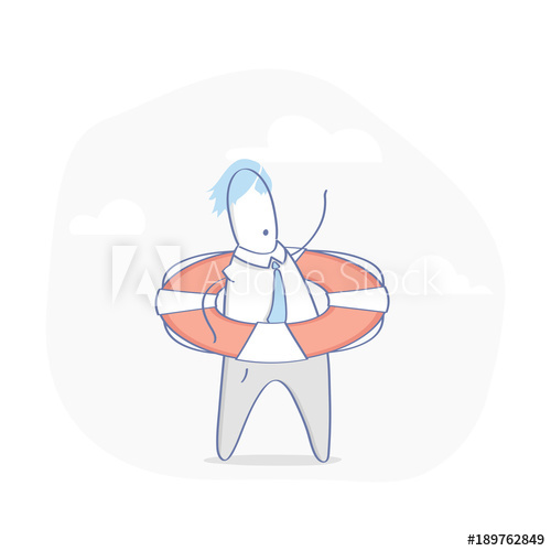 Businessman in trouble with. Stress clipart lot work