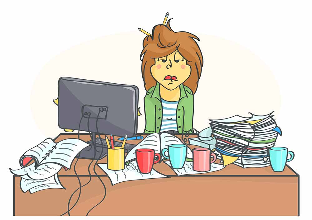Stress clipart negative stress. Evening could be more