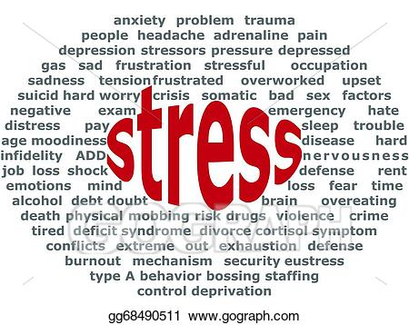 Stress clipart negative stress. Vector stock consequences of