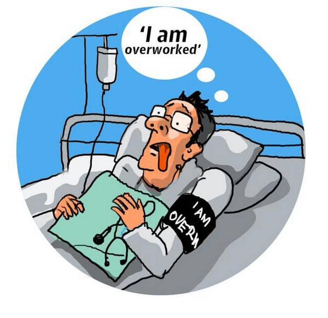 When stressed doctors seek. Stress clipart overworked