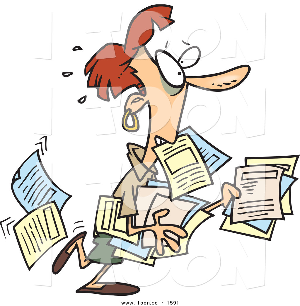 Stress clipart overworked. Cartoon stressed out red