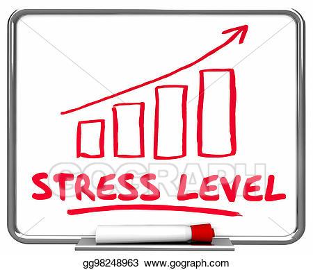 Stress clipart stress level. Clip art overworked arrow