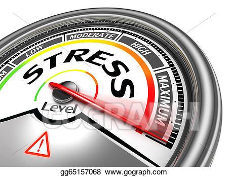 Stress clipart stress level. Clip art conceptual meter