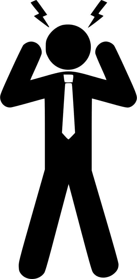 Svg png icon free. Stress clipart stress man