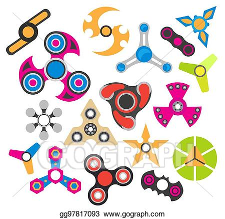 Stress clipart stress relief. Eps vector hand spinner