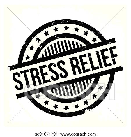 Stress clipart stress relief. Eps vector rubber stamp