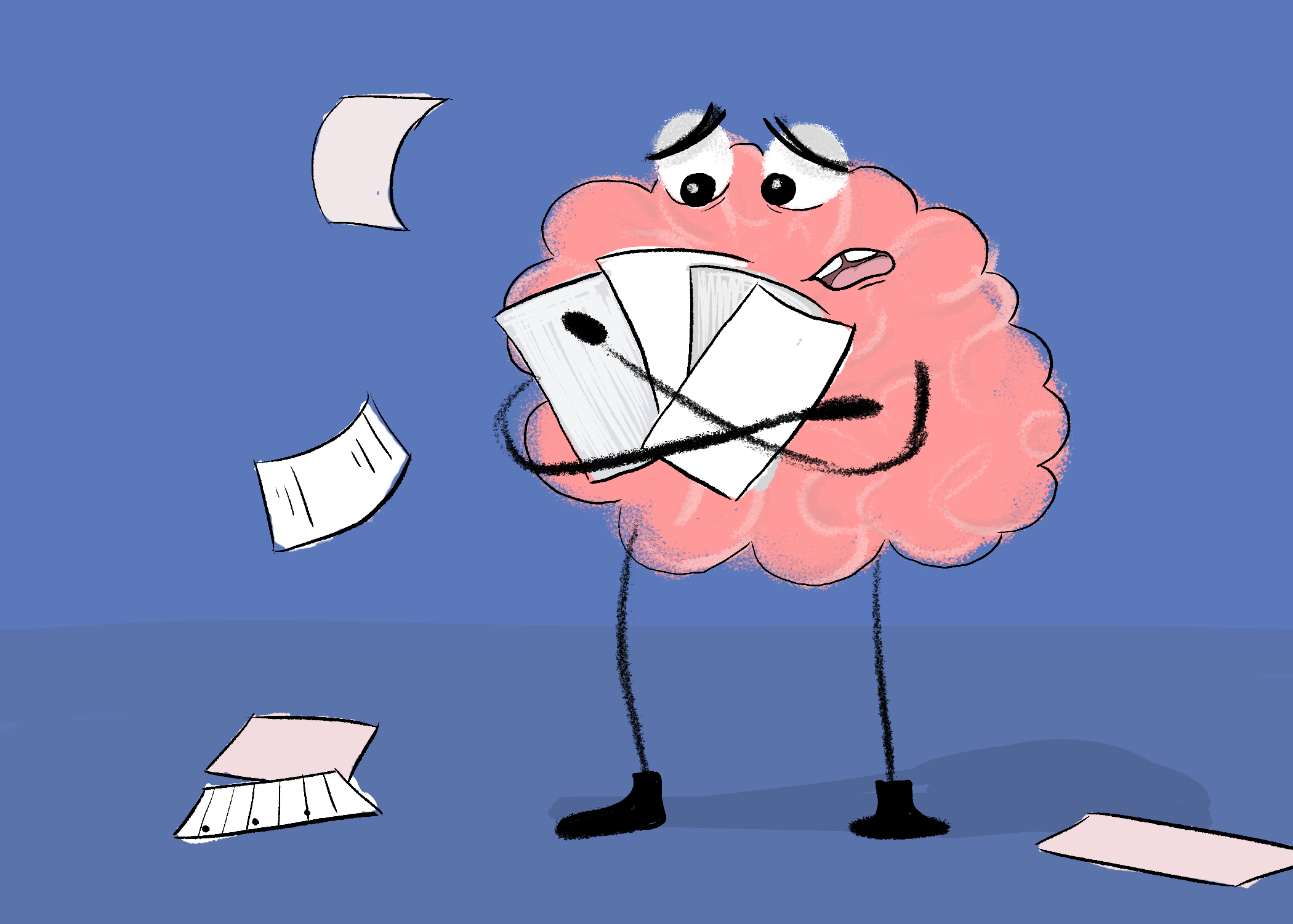 And the academic success. Stress clipart stressed brain