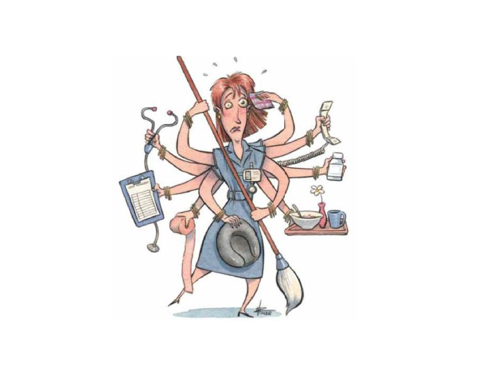 Retired tales and opinions. Stress clipart stressed nurse