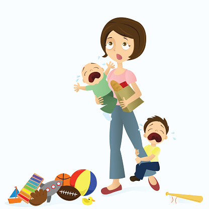 Free mother cliparts download. Stress clipart stressed parent