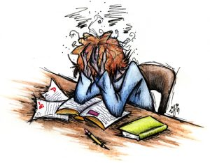 Management tips for students. Stress clipart university