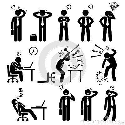 Stress clipart work pressure. Businessman business man workplace