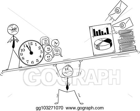 Stress clipart work pressure. Vector stock cartoon of