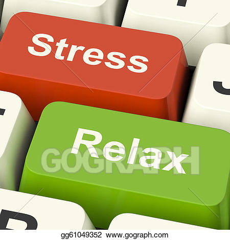 Stress clipart work pressure. Stock illustrations relax computer