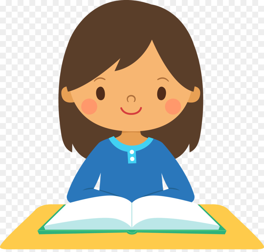 Student clipart. Girl study skills clip