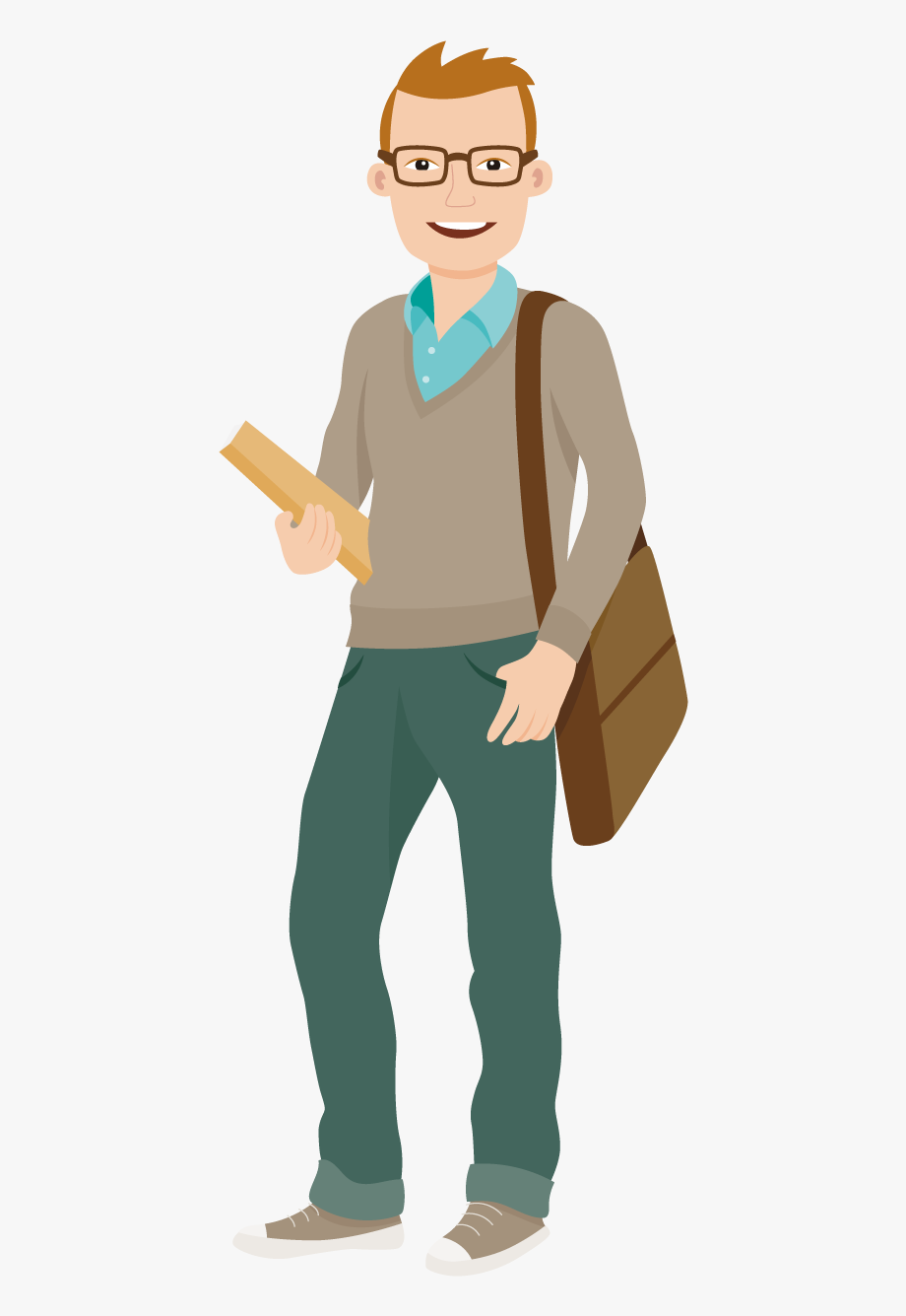 Students cartoon png . Student clipart college student
