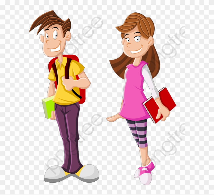 Student clipart high school student. Modern students