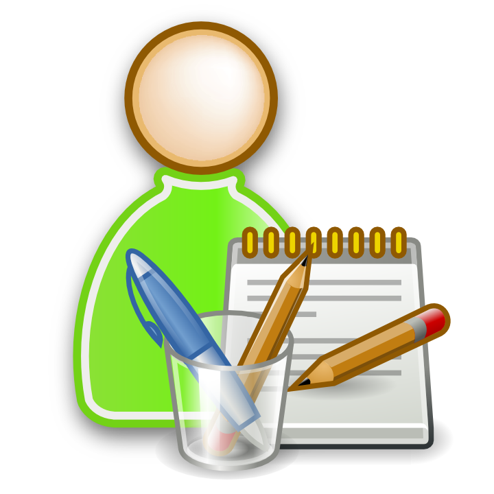 Page. Student clipart icon
