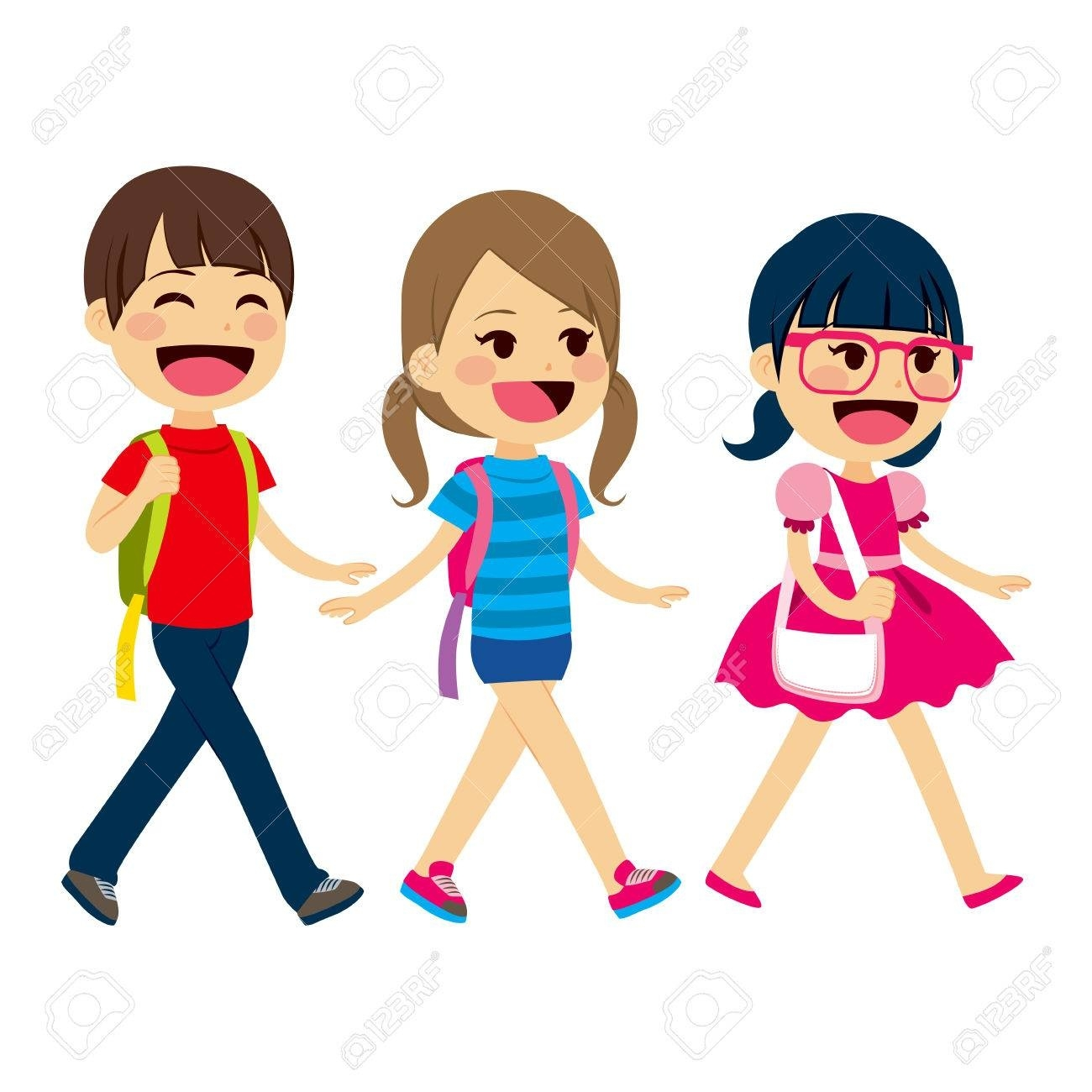 Students writings and essays. Student clipart walking