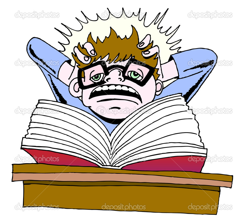 Study clipart college study. Student studying free download