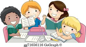 Clip art royalty free. Study clipart kids group discussion