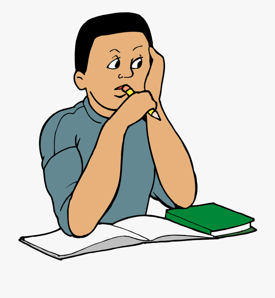 Study clipart student thinking. Skills clip art child