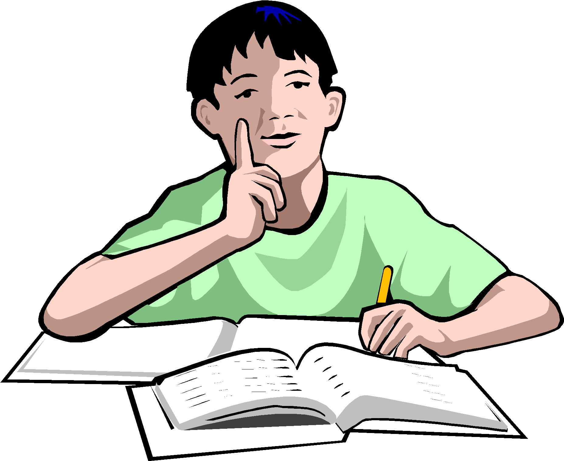 Plagiarism copy on emaze. Study clipart student thinking