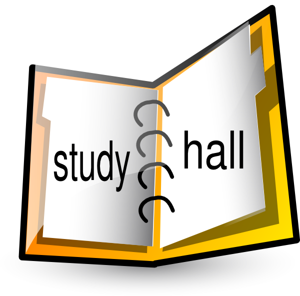 Notebook clip art at. Study clipart study hall