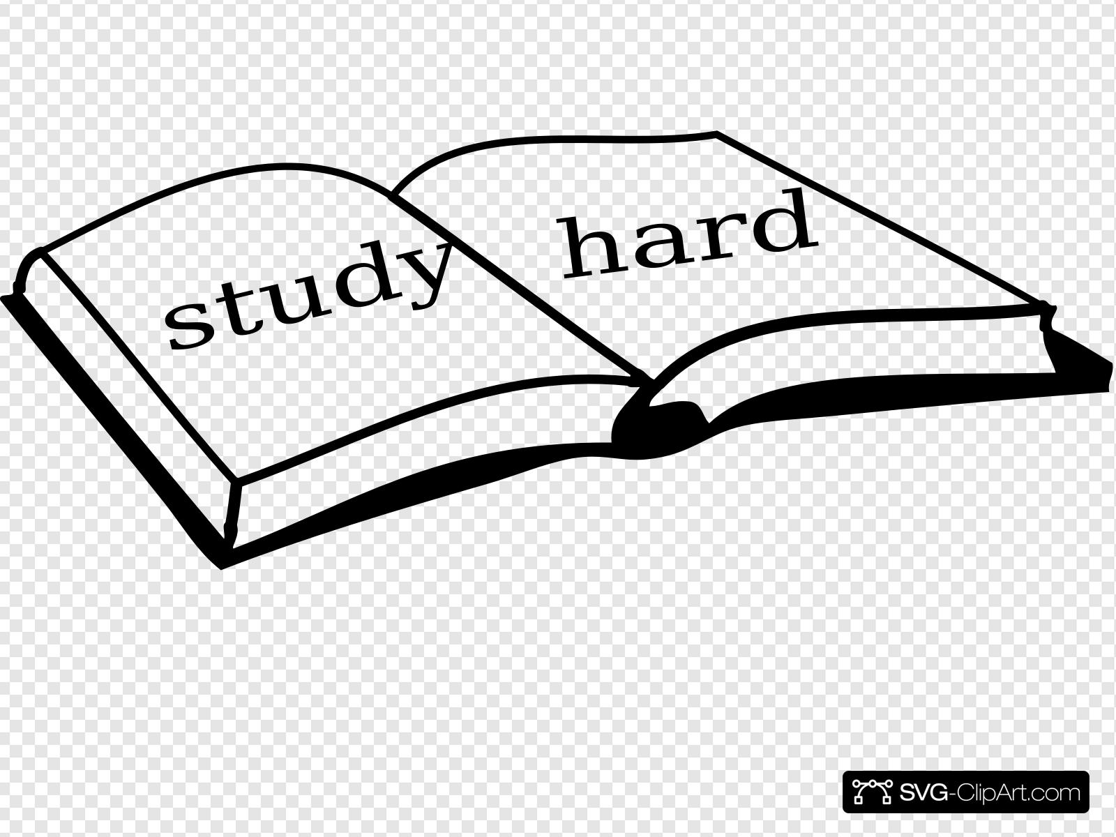 Hard clip art icon. Study clipart svg