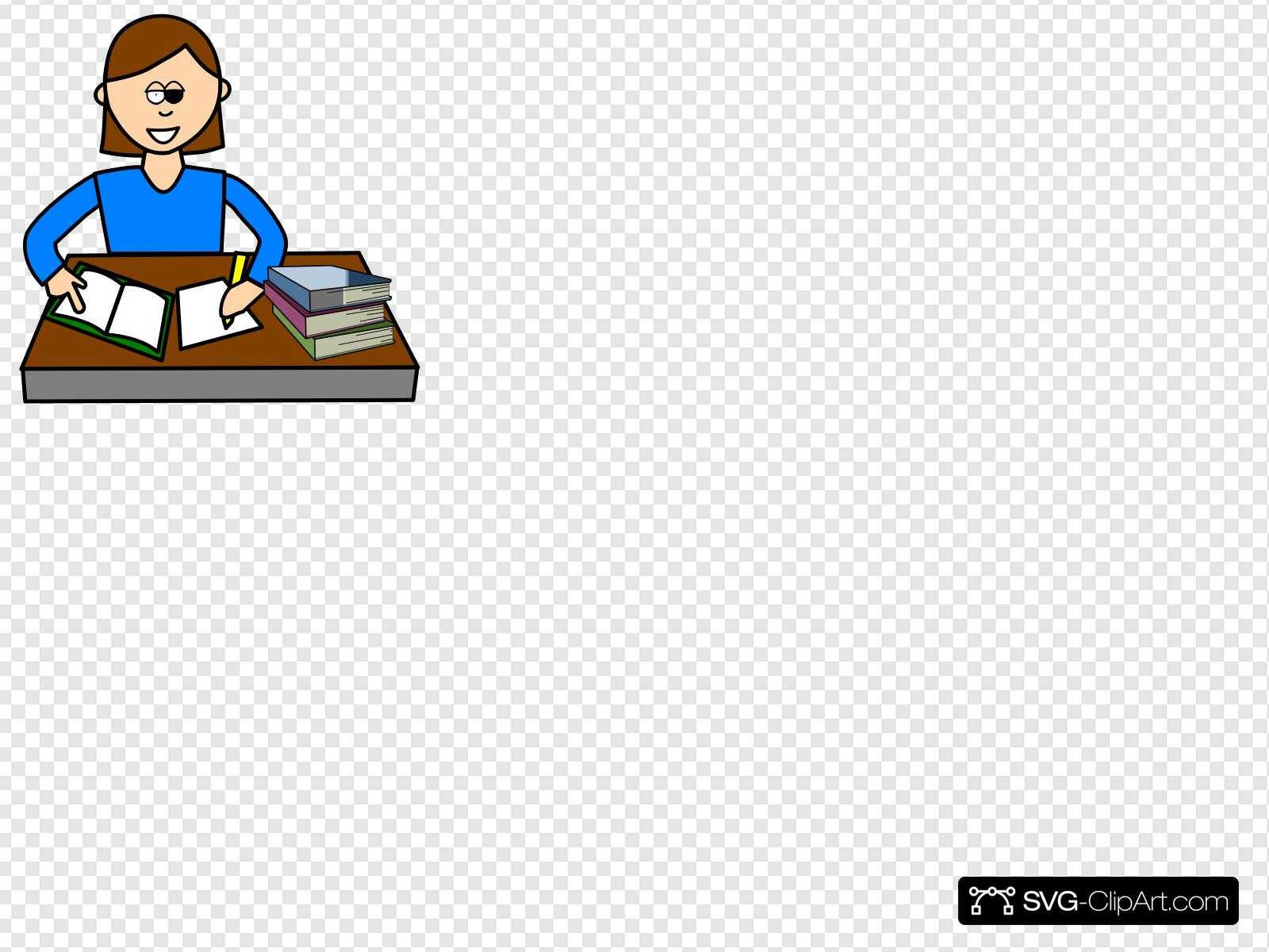 Clip art icon and. Study clipart svg