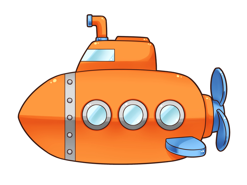 Cartoon free to use. Submarine clipart