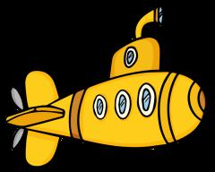 Cartoon clip art panda. Submarine clipart