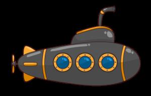 Submarine clipart. Cartoon free to use