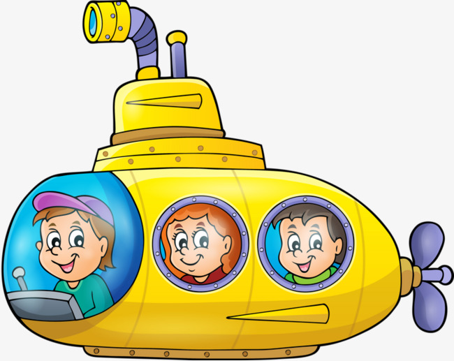 Yellow character png image. Submarine clipart