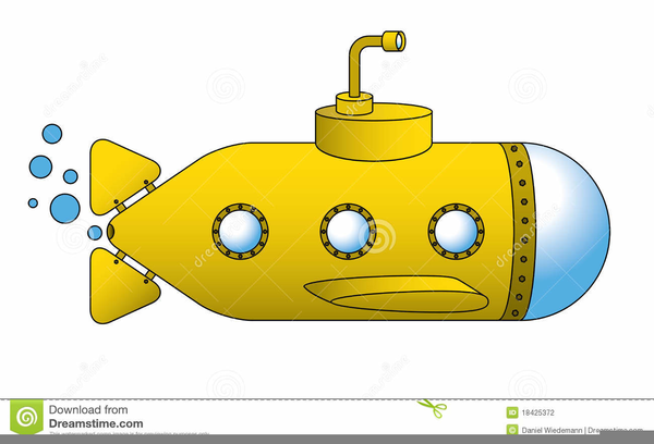 Yellow free images at. Submarine clipart